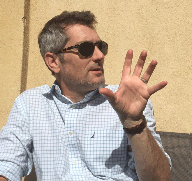 Jeffrey Hannan in Fayence, departement de Var, France 2015